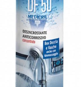 DF50 Metacril Tecno Line super disincrostante anticorrosivo concentrato per Box doccia, sanitari, rubinetterie, vasca idromassaggio, inox 500 ml
