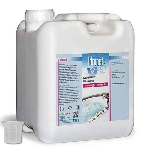 Idronet Tecno Line igienizzante sanificante per pulizia idromassaggio Tanica 5000ml