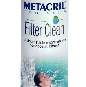 Metacril Filter Clean 5 Lt. + Dosatore. Disincrostante,Sanificante,Sgrassante per filtri di Piscina e idromassaggio (Teuco, Jacuzzi,Dimhora,Intex,Bestway...