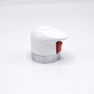 Maniglia termostatico Round Bianca anello cromo